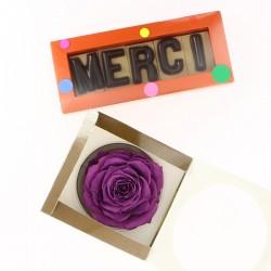 Cadeau MERCI et Rose