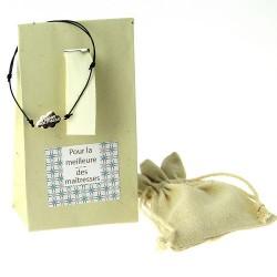 Bracelet gravé dans pochette