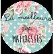 """Tote Bag """"La meilleure des Maîtresses"""" avec prénom"""