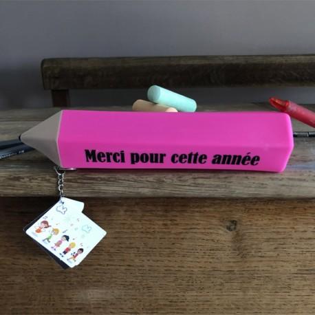 Trousse Crayon Merci Maîtresse Vert
