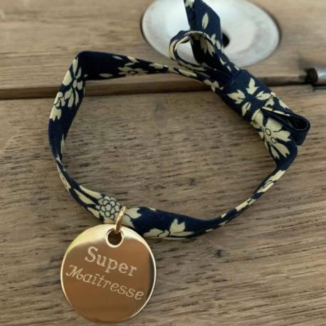 Bracelet ruban Super Maîtresse