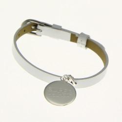 """Bracelet cuir médaille """"Super Nounou"""""""