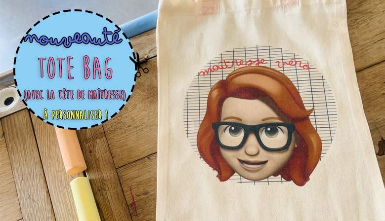 Envie d'une personnalisation sur un Tote Bag pour un cadeau Maîtresse ?